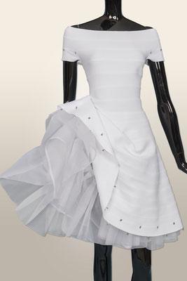 KL 1607 Kleid  Petticoat reine Seide abnehmbar  XS-M 1290,-