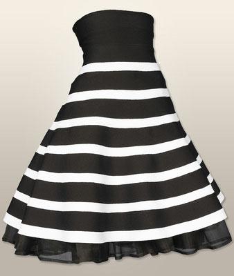Ro 1905 Bändchenrock zwei farbig / Petticoat reine Seide abnehmbar     XS-L  ab 890,-