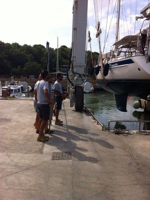 Einwassern des Boots