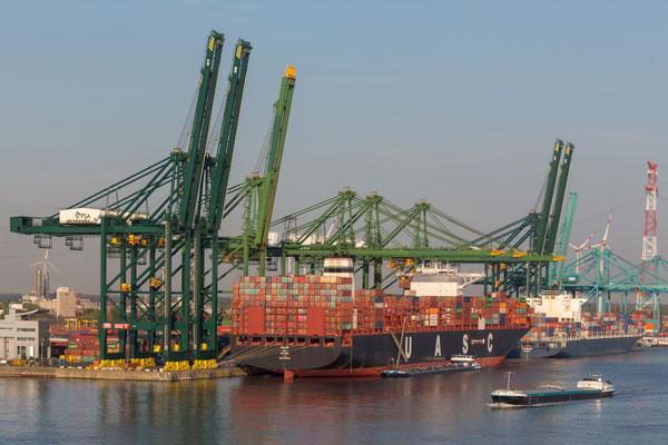 Antwerpen 14. grösster Containerhafen. Hamburg folgt als 15, an der Spitze ist Shanghai