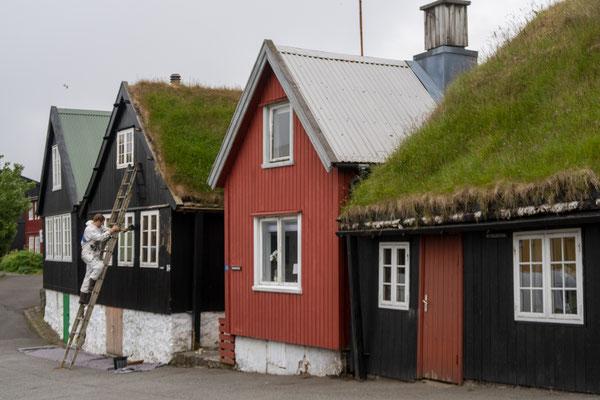 Häuser streichen in Torshavn