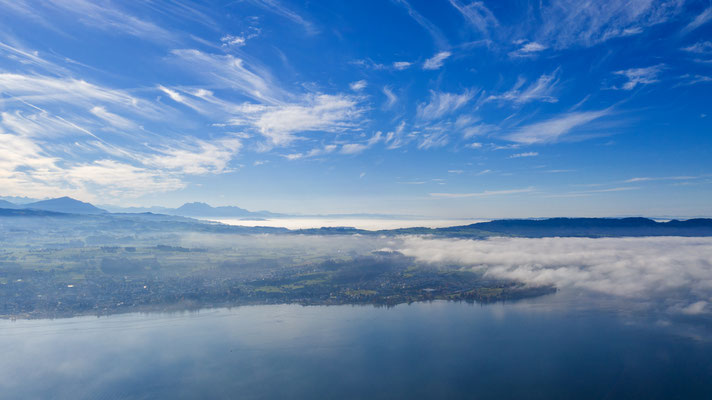 Zürichsee mit Rigi - Pilatus - Halbinsel Au