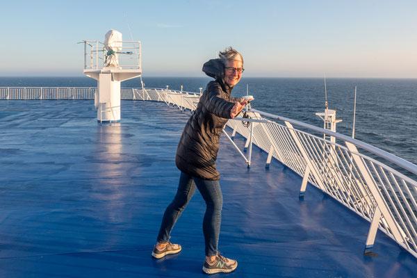 Viel WInd auf dem Weg zu den Føroyar Inseln