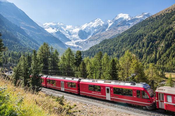 Roseggtal Morteratschgletscher Rhätische Bahn
