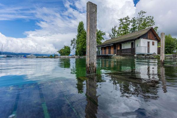 Hochwasser am Zürichsee Männedorf 16.Juli 2021