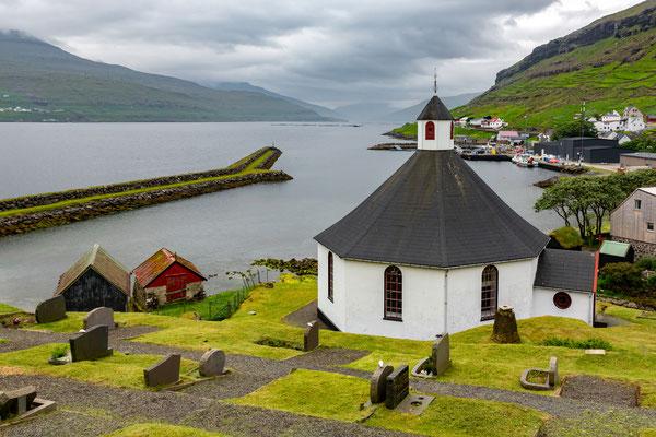 Die achteckige Kirche von Haldorsvik