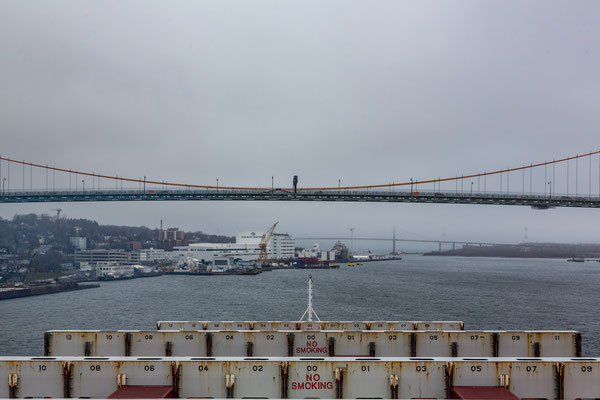 Halifax empfängt uns mit nassem und kaltem Wetter