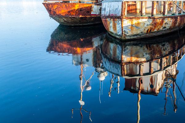 Schönes Licht am Fischerhafen von Grindavik