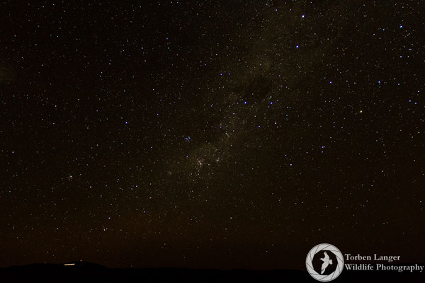 The starry sky with the Milky Way close to Lake Tekapo