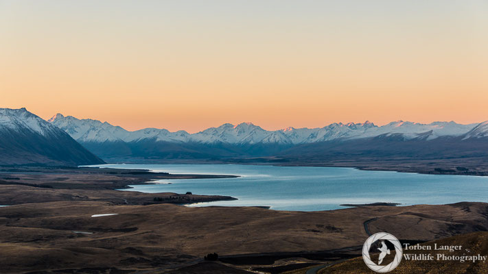 View from Mt. John Observatory close to Lake Tekapo