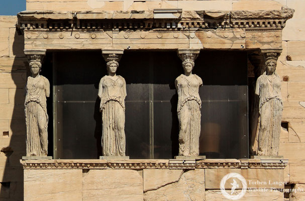 Noseless ladies at the Acropolis