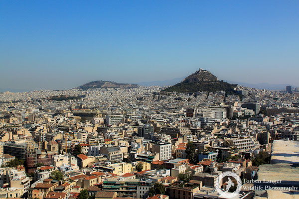 View over Athens from the Acropolis
