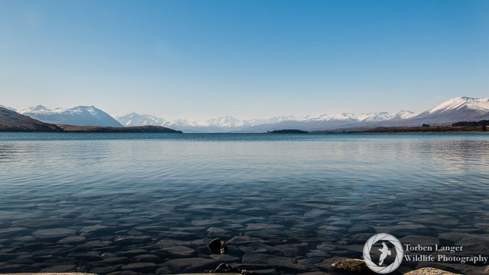 Lake Tekapo on a calm winter's day