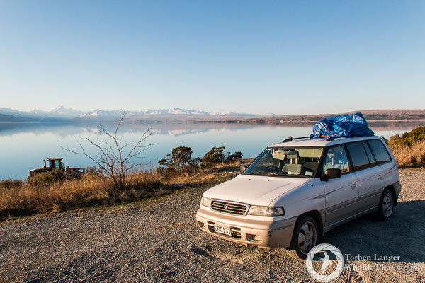The van at Lake Pukaki