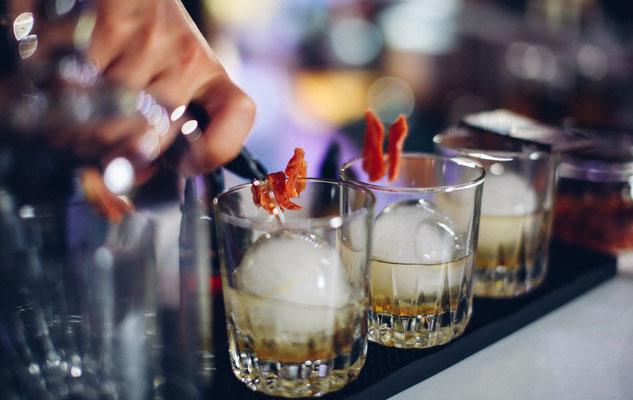 klassischer Whiskey auf Eis