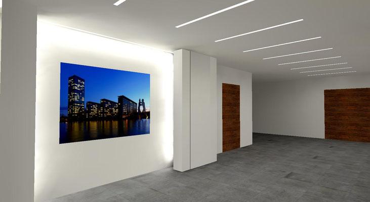 Foyer mit Fotowand, Jugendheim Bettingen