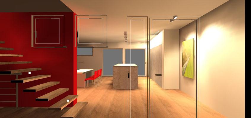 Eingangssituation privater Wohnraum