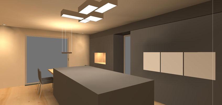 Lichtdesign Küche, Niederprüm / Eifel
