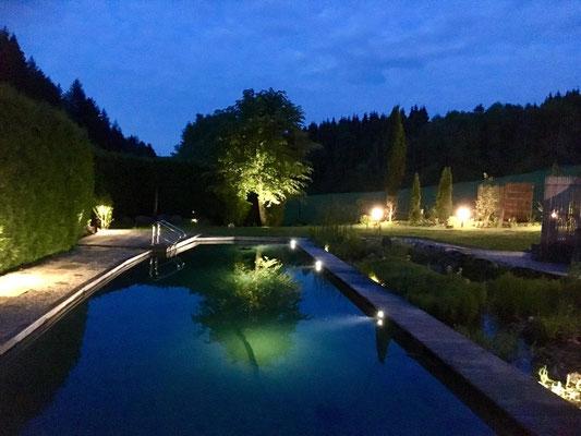 Beleuchtung Schwimmteich - Gerolstein / Eifel