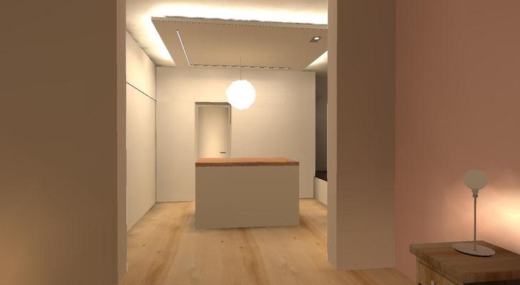 Lichtdesign Ankleideraum