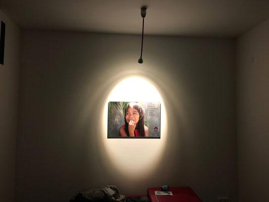 Akzentbeleuchtung im Eingangsbereich