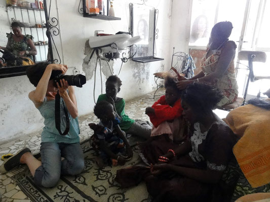 "Working on the project ""When you've stopped combing me, I'll stop hating you"", Saint-Louis, Senegal"