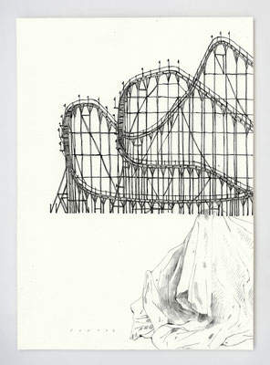 """PARADE #01"" / Graphite & stylo / 21x29.7cm"