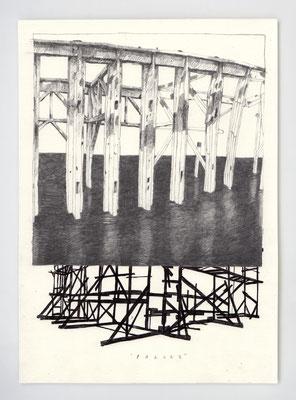"""PARURE"" / Graphite & stylo / 21x29.7cm"