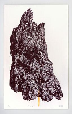 """BERCAIL"" / Linogravure 50x30cm"