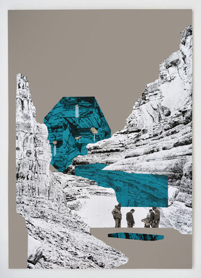"""RESERVE III"" _ sérigraphie 70x100cm _ 3 couleurs"