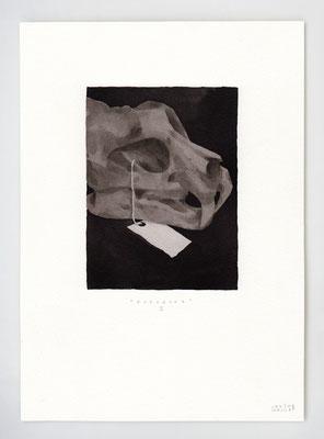 ENTRACTE II _ 21x29,7cm _ stylo et lavis _ Papier Moulin du Roy Feuille 300 gr