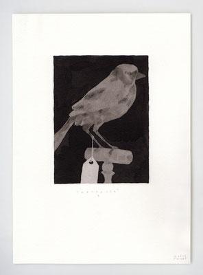 ENTRACTE I _ 21x29,7cm _ stylo et lavis _ Papier Moulin du Roy Feuille 300 gr
