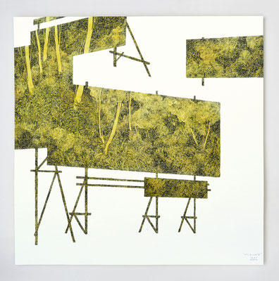"Diptyque ""INTERLUDE II"" _ encre et aquarelle _ 40x40cm"