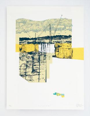 """""""Viçosa IV"""" /  Sérigraphie 30x40cm / 4 couleurs / papier 300gr."""