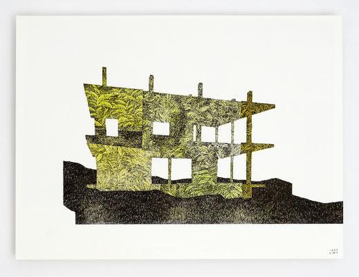"""""""ANCRAGE I"""" / Encre et aquarelle sur papier / 30x40cm"""