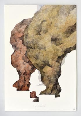 VENDU - SOLD /// FRACAS 12 / 40x60cm / Encre & aquarelle
