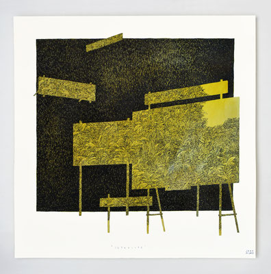 "Vendu - Sold /// ""INTERLUDE I"" _ encre et aquarelle _ 40x40cm"