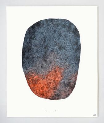 """VENDU - SOLD /// """"BERCAIL 07"""" / Encre & aquarelle / 30x40cm"""