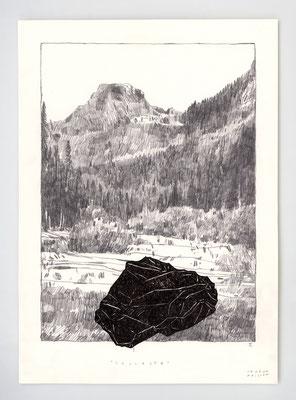 VENDU - SOLD /// COLLECTE I _ 21x29,7cm _ graphite et encre _ papier Ursus 300gr