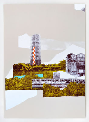 """""""REPAIRE 03"""" / Sérigraphie 70x100cm / collaboration avec Macula Nigra"""