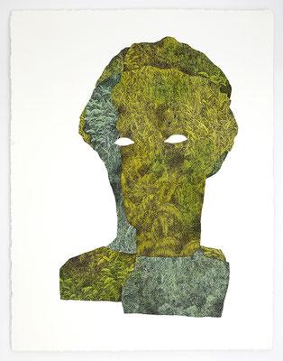 """VENDU - SOLD /// """"FOLKLORE V"""" / Encre et aquarelle sur papier / 76x56cm"""