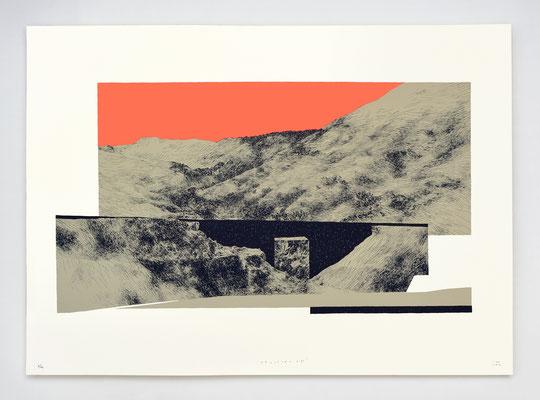 """FRACTURE II"" / sérigraphie / 50x70cm / 15ex."