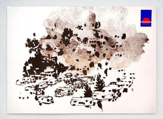 Eden 10 / sérigraphie 70x50cm