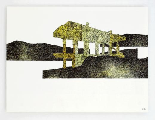 """""""ANCRAGE II"""" / Encre et aquarelle sur papier / 30x40cm"""
