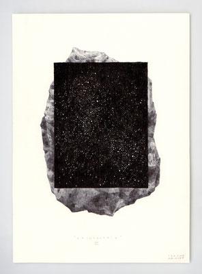 VENDU - SOLD /// ARCHEOLOGIE III _ 21x29,7cm _ encre et sérigraphie