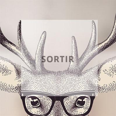 affiche bar de nuit Verbier création originale graphisme