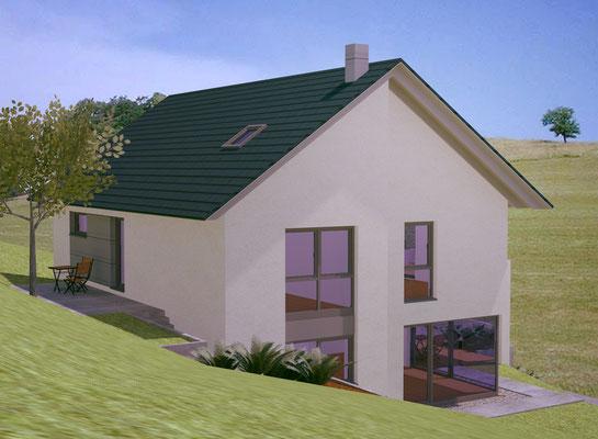 Ein haus am hang bauart wenden architekt daniel klein for Haus bauen architekt