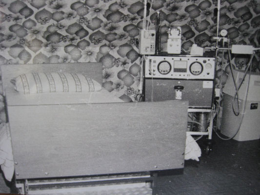 Heimdialysezimmer 1979