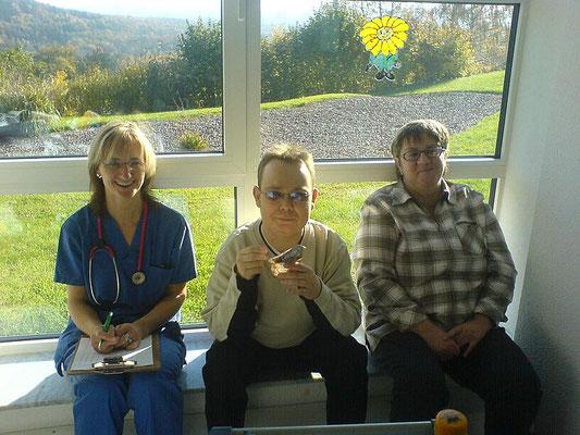 Vor der Dialyse beim Puddinggenuss