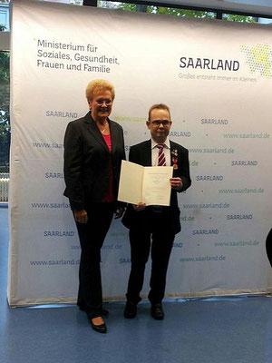 Die saarländische Gesundheitsministerin Monika Bachmann 2015 bei der Verleihung.